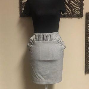 Houndstooth Mini Skirt.